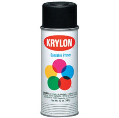 Picture of Krylon  12Oz Flat Black Aerosol Can Paint K1602 69-9773
