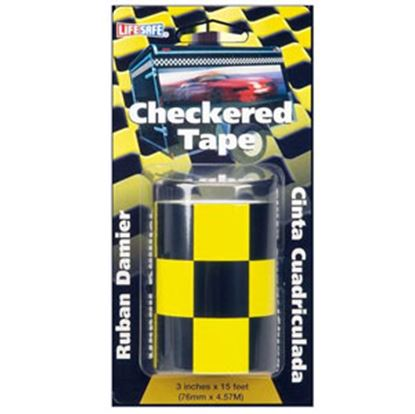 "Picture of Top Tape  Yellow/ Black 3"" x 15' L Anti-Slip Checkered Tape RE7017 69-9970"