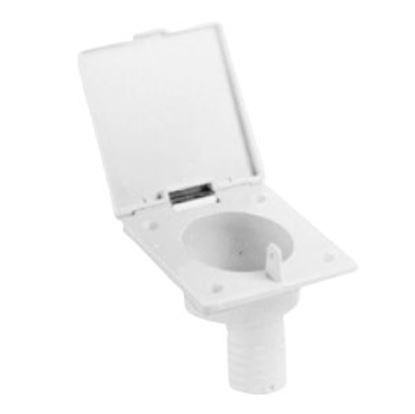 Picture of Zebra  Colonial White Fill Spout w/ Hinged Cover Fresh Water Inlet  71-0084