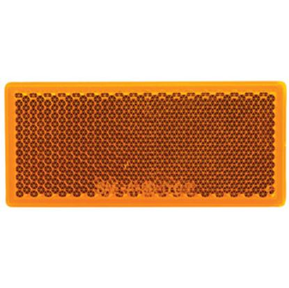 """Picture of Diamond Group  3-1/4""""x1-3/8"""" Rectangular Amber Stick-On Reflector WP-R-42801A 71-2566"""