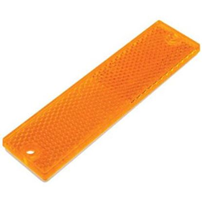 """Picture of Diamond Group  4-3/8""""x1-1/8"""" Rectangular Amber Screw Mount Reflector WP-R-47463A 71-2568"""
