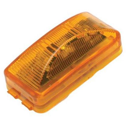 """Picture of Diamond Group  Amber 2-1/2""""W x 1-1/4""""H x 7/8""""Thick LED Side Marker Light WP-1239AF 71-2596"""