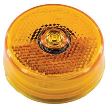 """Picture of Diamond Group  Amber 2-1/2""""Dia x 1-1/8""""H LED Side Marker Light WP14-0065A 71-2602"""