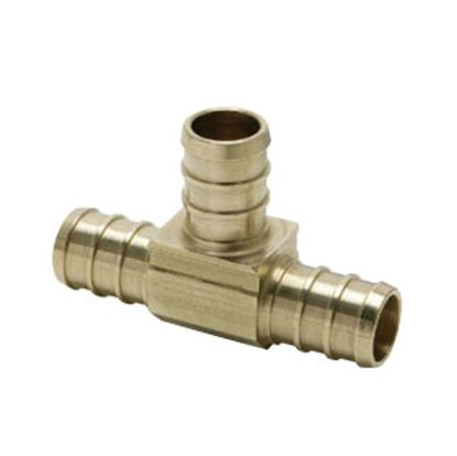 "Picture of BestPEX  3/8"" PEX Brass Tee Fresh Water Coupler Fitting 51150 72-0830"