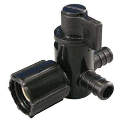 "Picture of EcoPoly Fittings  1/2"" PEX x 1/2"" FPT Swivel End Nut Plastic Shut Off Valve 28913 88-9313"