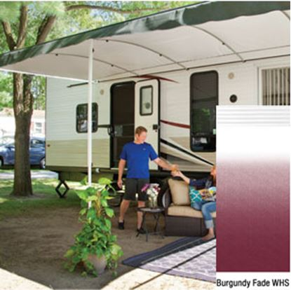 "Picture of Lippert Solera Destination 16'L X 9' 8""Ext Spring Assist Patio Awning w/White Solera Shield V000334857 90-2163"